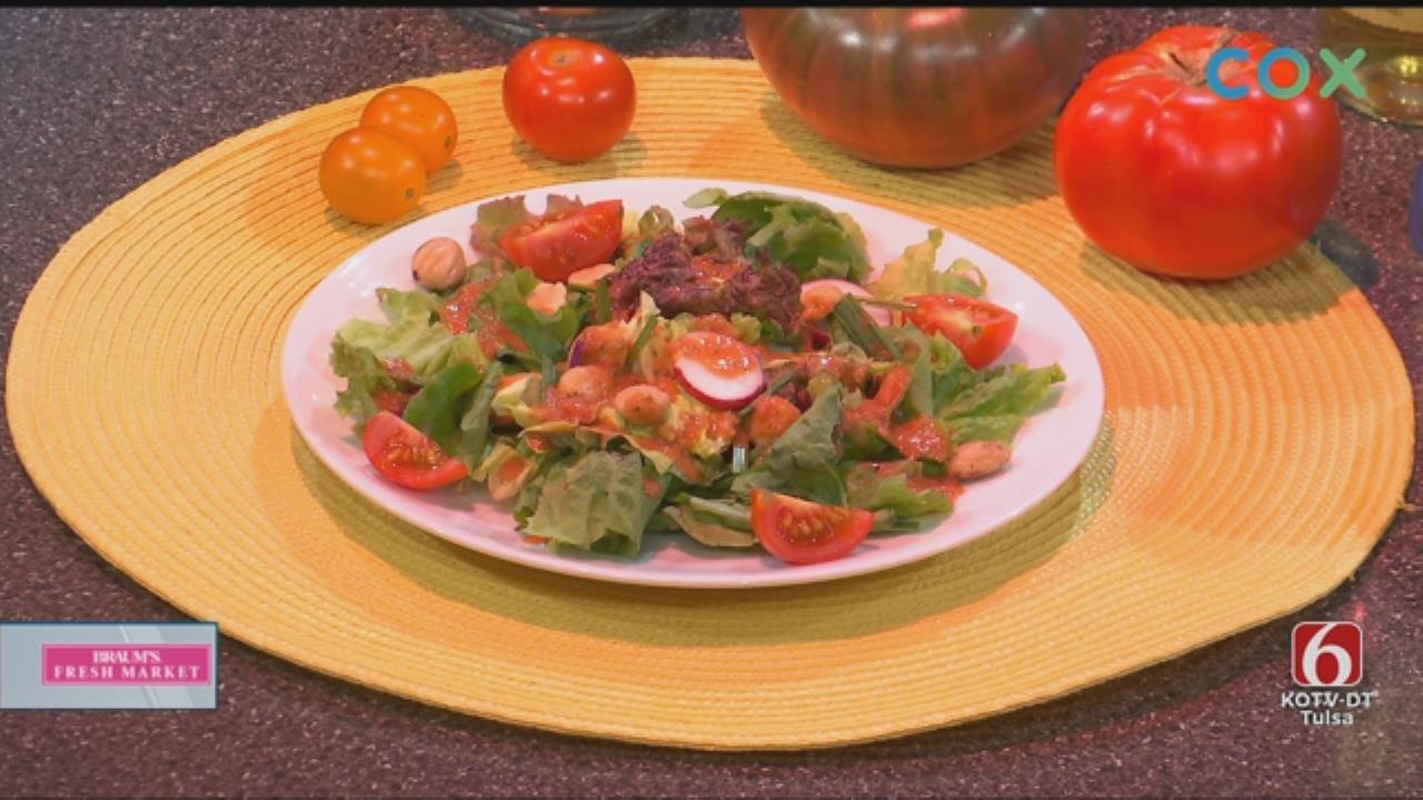 Fresh Tomato Salad And Veggie Dressing