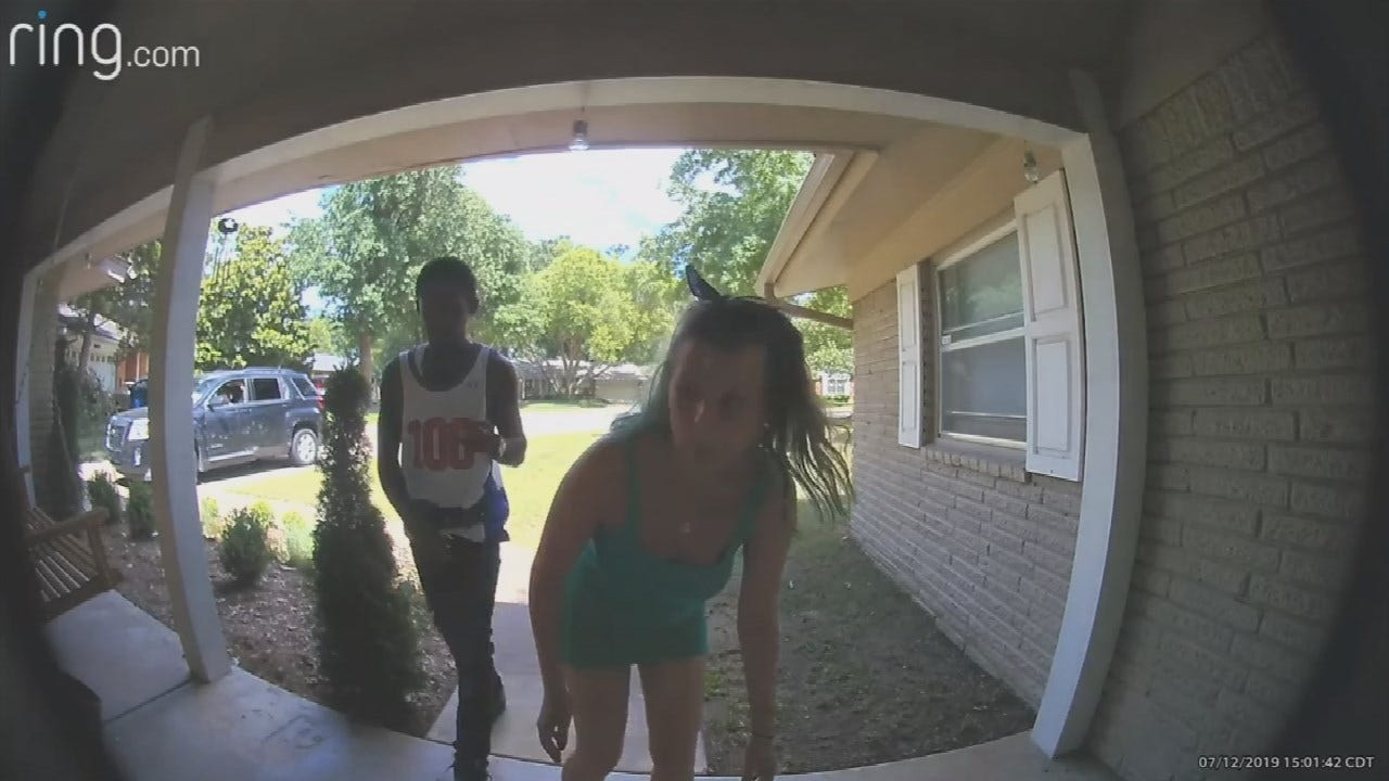 WATCH: Porch Pirates Try To Break Camera After Being Caught