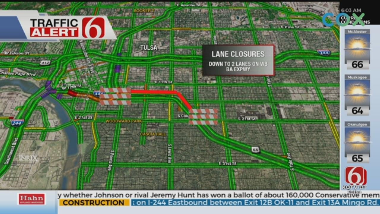 Lane Closures Affecting The BA Expressway Tuesday