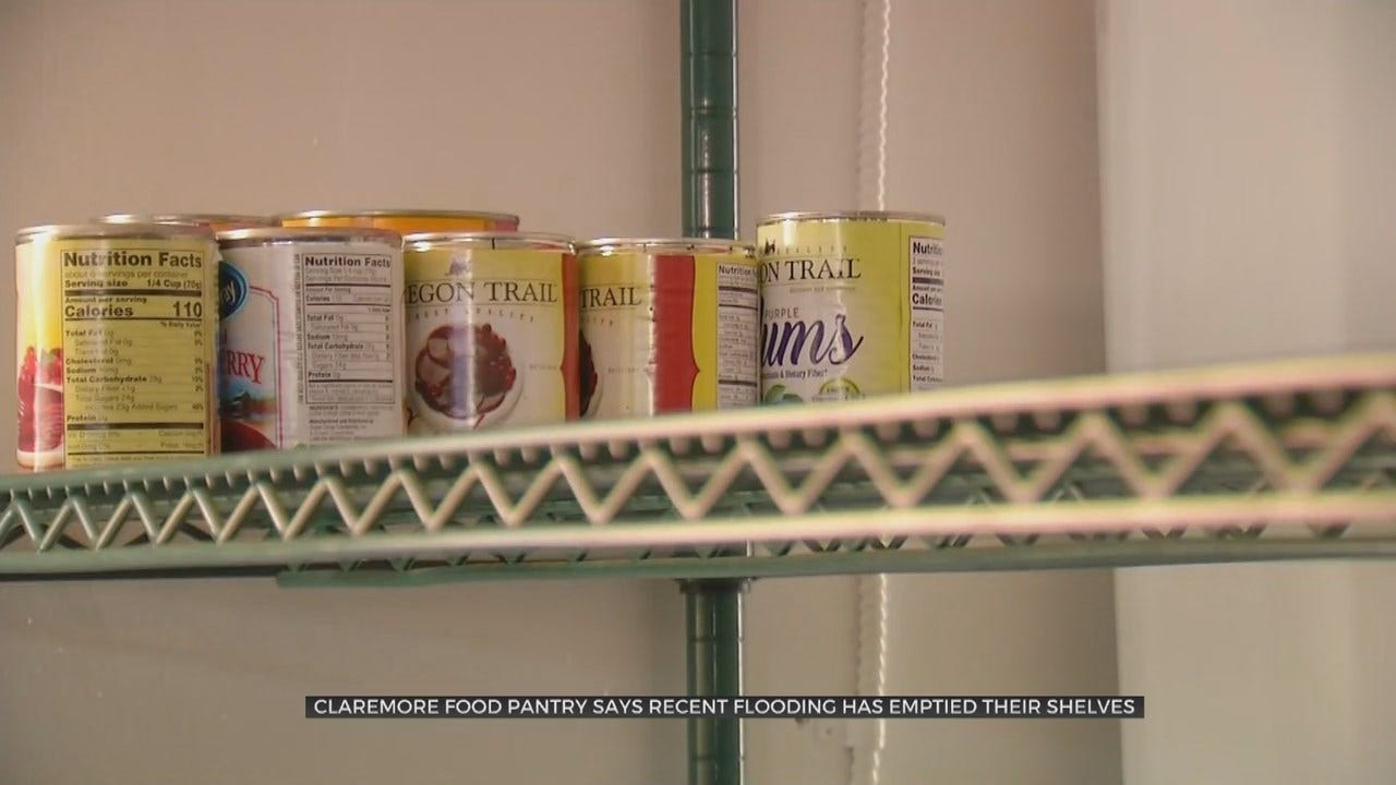 Oklahoma Flooding Causes Shortage For Claremore Food Pantry