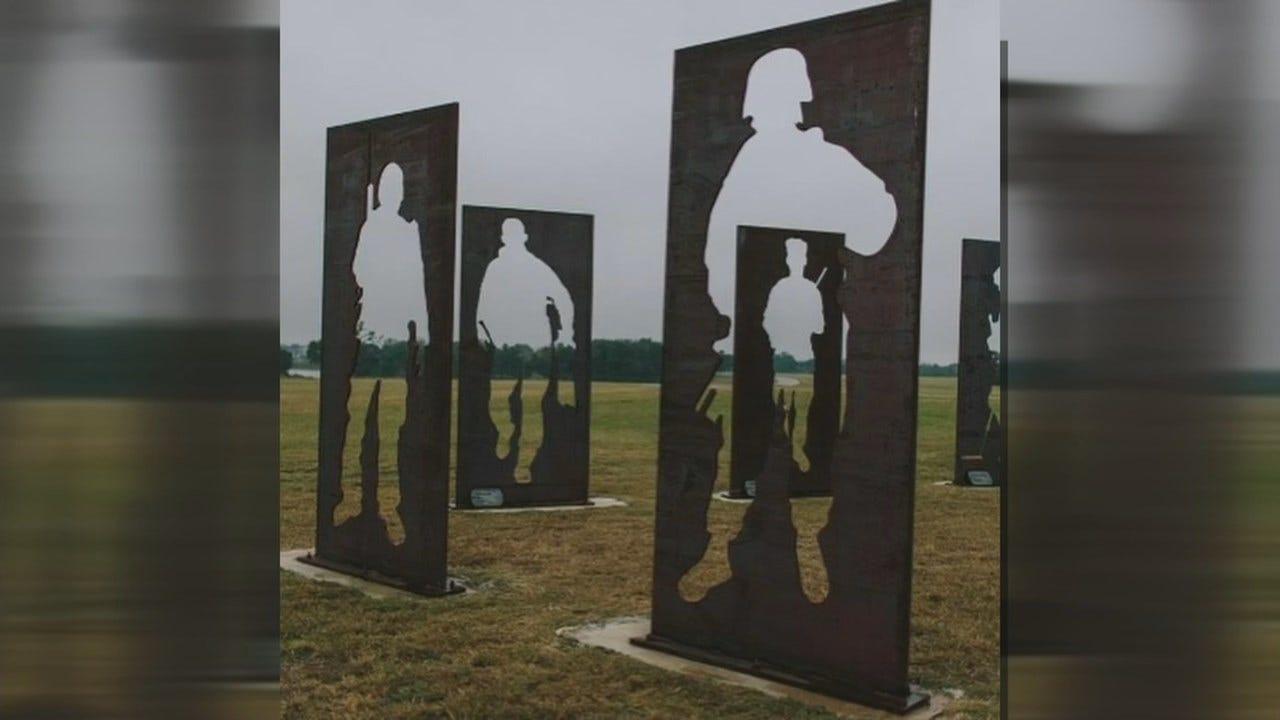 Mission 22 Memorial Monument Comes to Broken Arrow, Raises Awareness Of Veteran Suicide