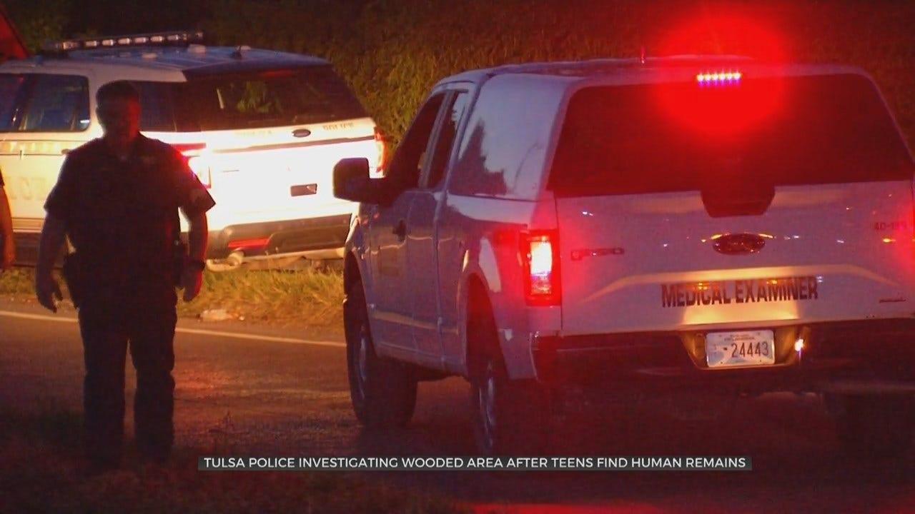 Homicide Detectives Investigate After Kids Find Human Remains In Tulsa