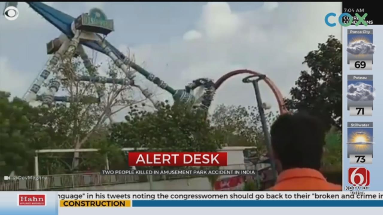 Video Shows Amusement Park Ride Breaking In Half