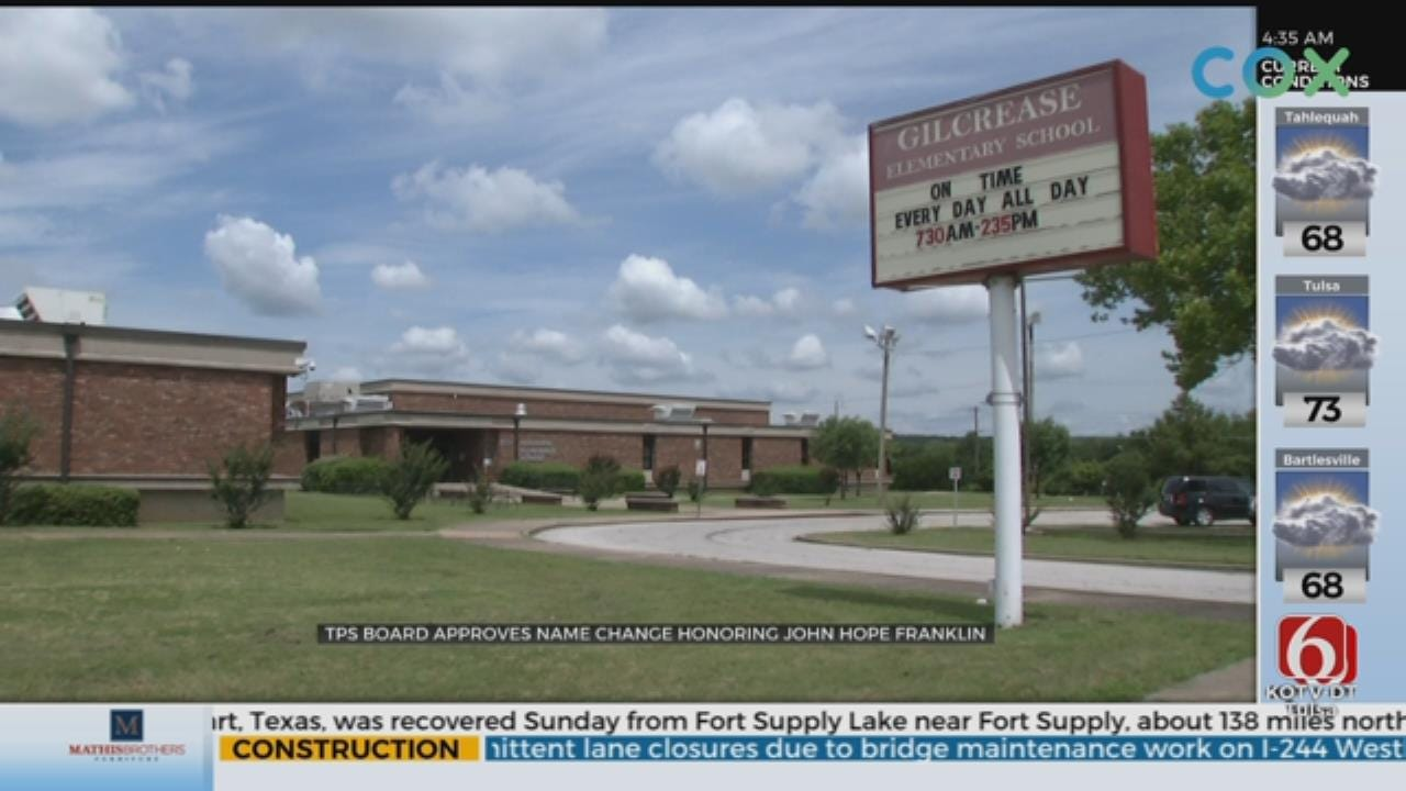 Gilcrease Elementary And ECDC Renamed To John Hope Franklin Elementary