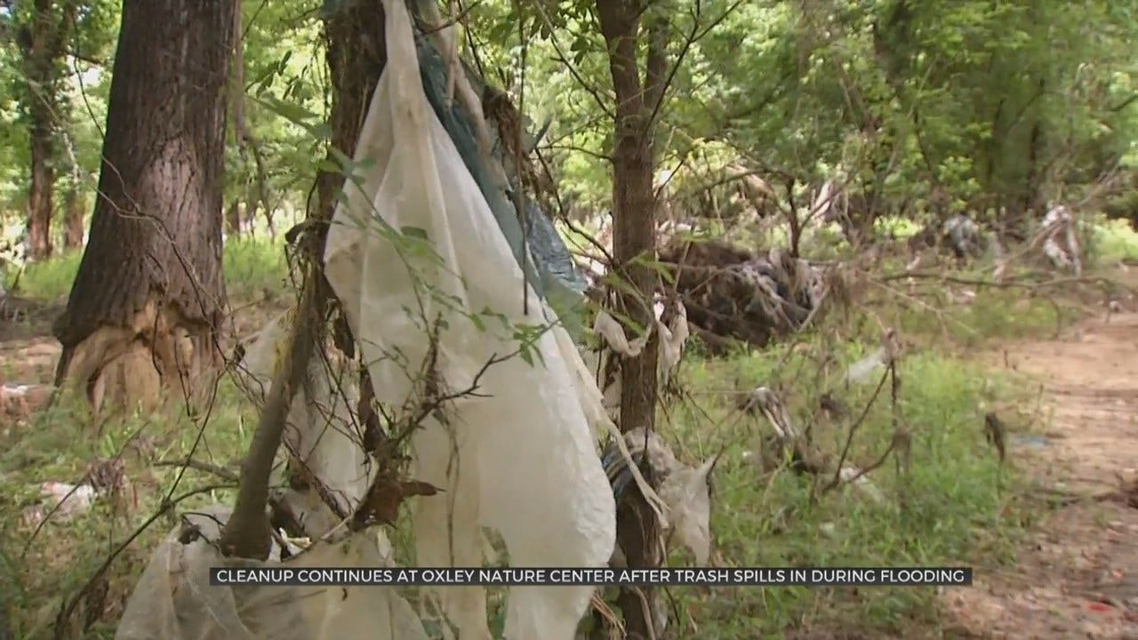 Tulsa's Oxley Nature Center Cleaning Up After Recent Flooding