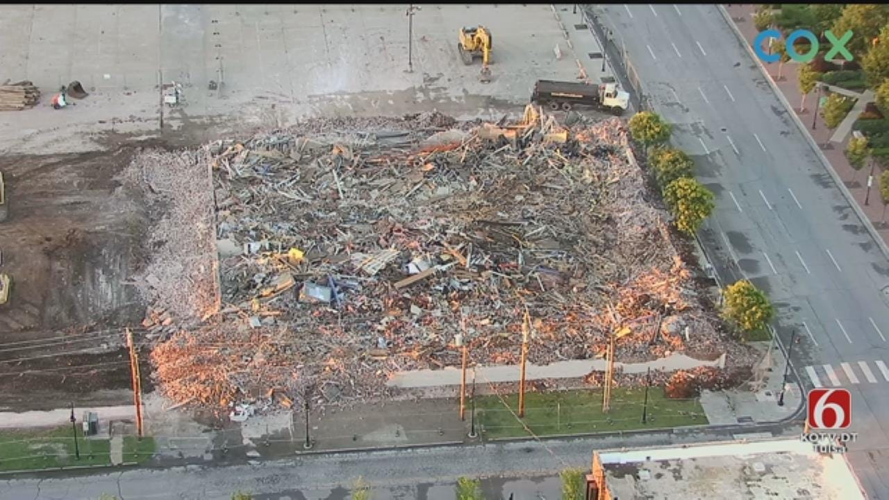 WATCH: Downtown Tulsa Building Demolished