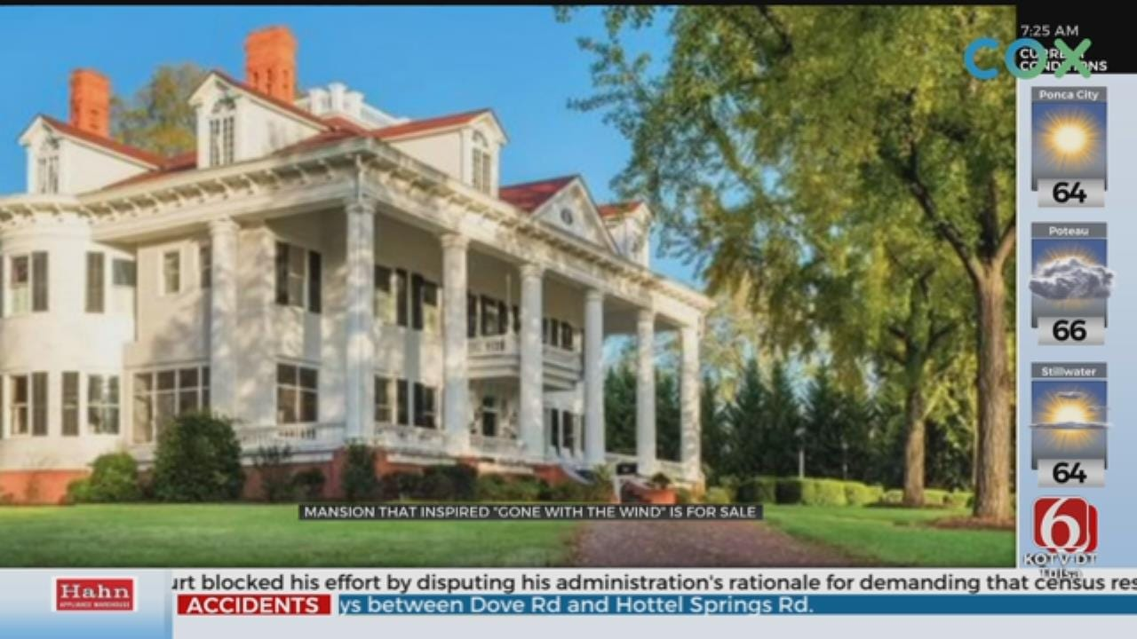 Iconic Mansion That Inspired 'Gone with the Wind' Is For Sale