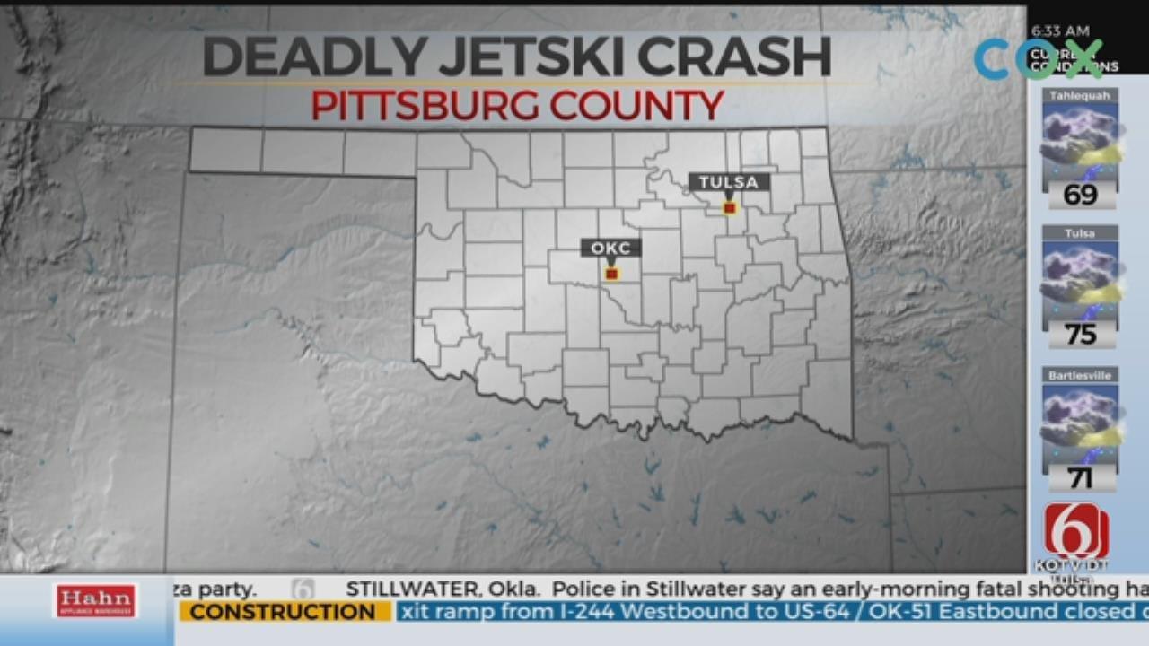 Man Killed In Jet Ski Crash On Lake Eufaula