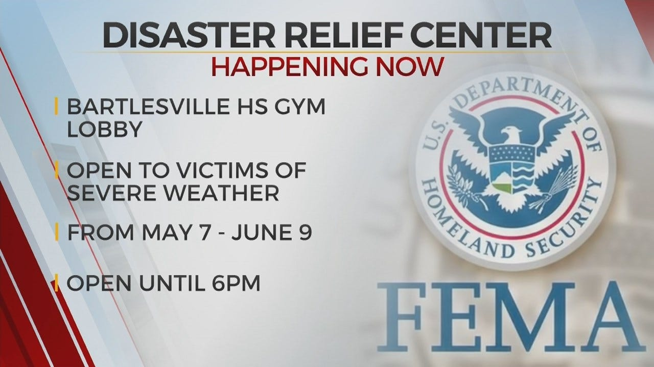 Mobile Disaster Relief Center Opens In Bartlesville
