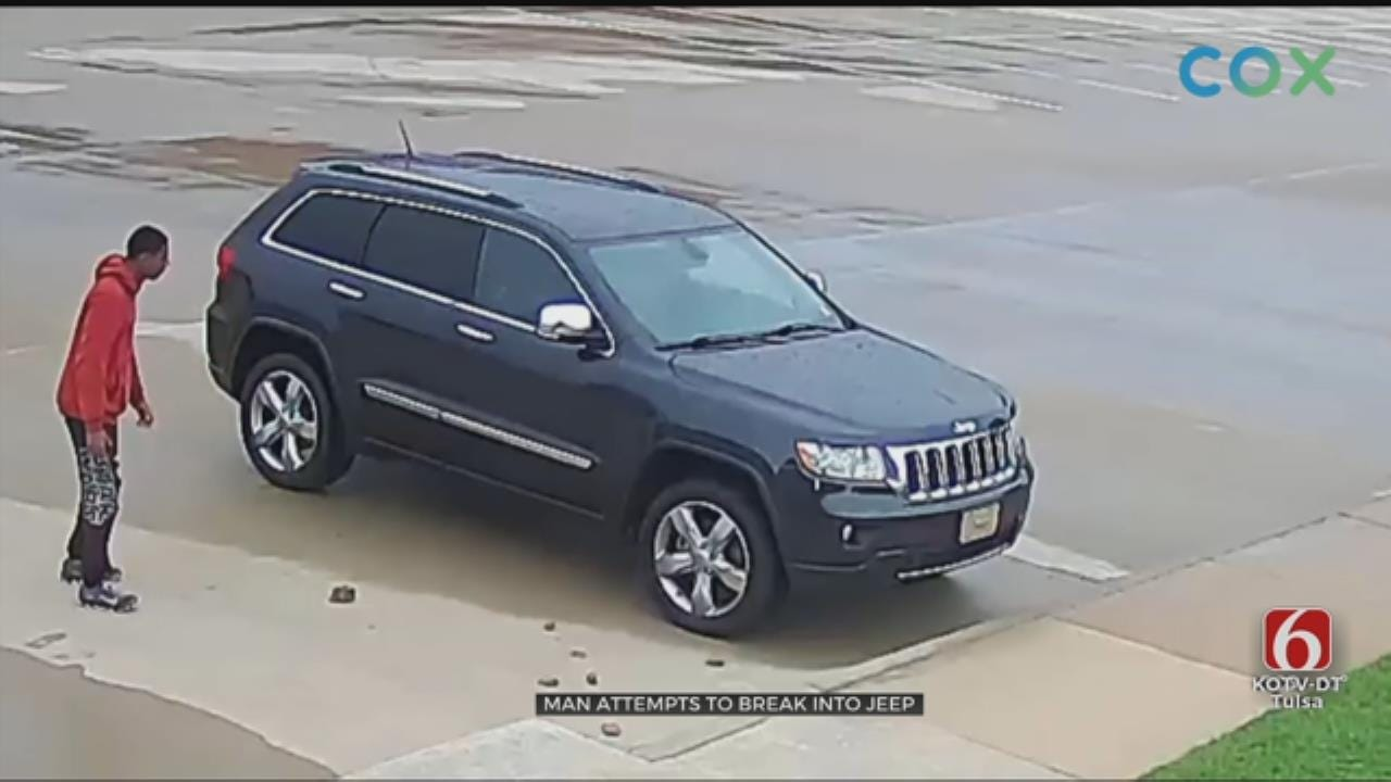 WATCH: Tulsa Police Looking For Suspect That Failed To Break Into A Vehicle