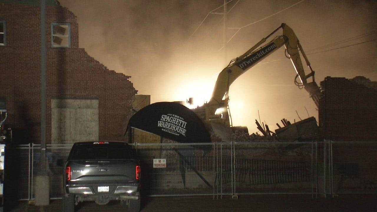 WATCH: Old Spaghetti Warehouse Demolished