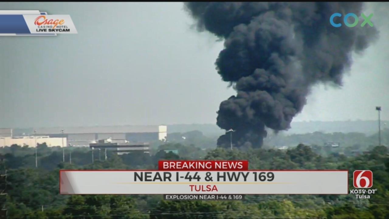 WATCH: Injury Crash Causes Tulsa Explosion