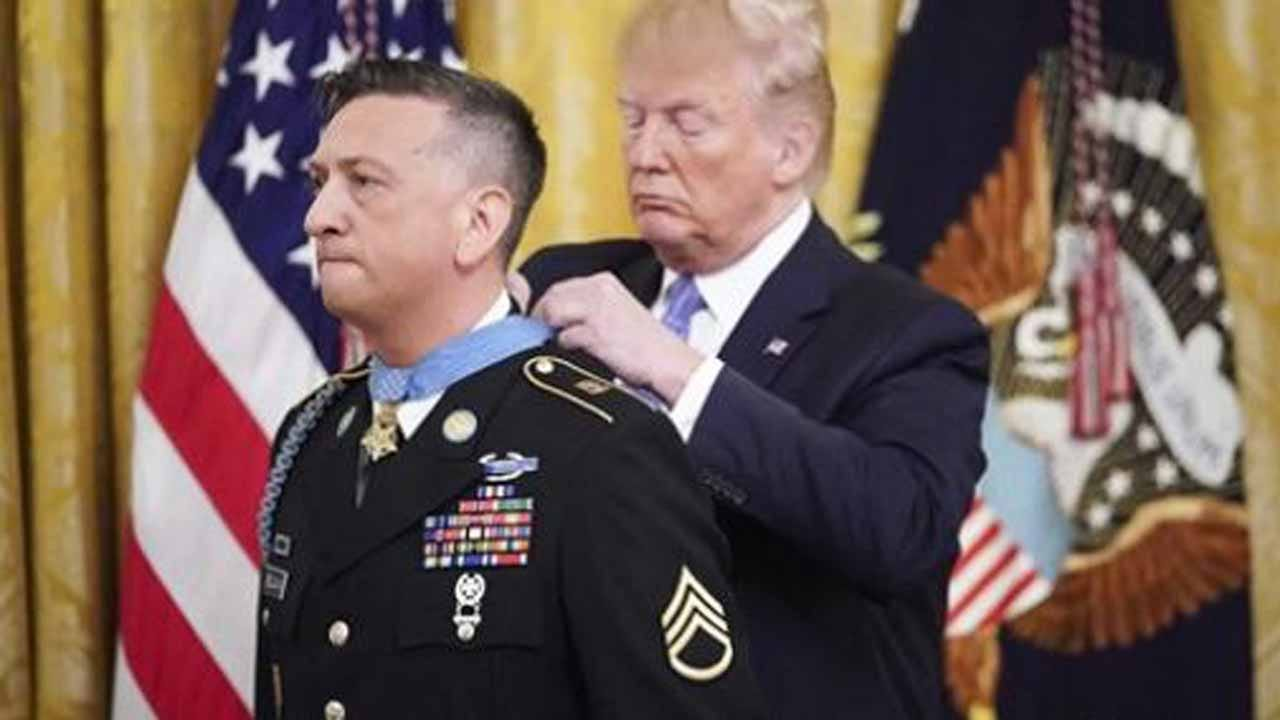 President Trump Awards Medal Of Honor To Iraq War Veteran