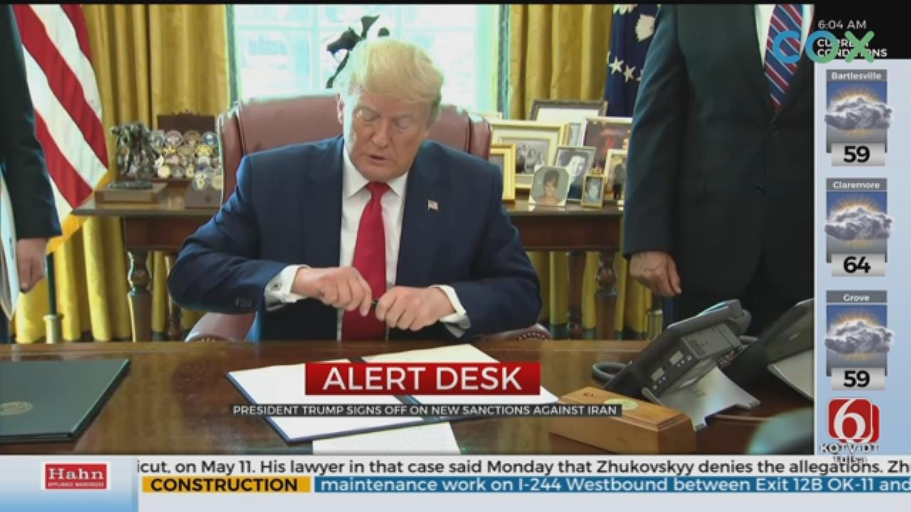 President Trump Signs New Sanctions on Iran, Iran Calls It 'Outrageous'