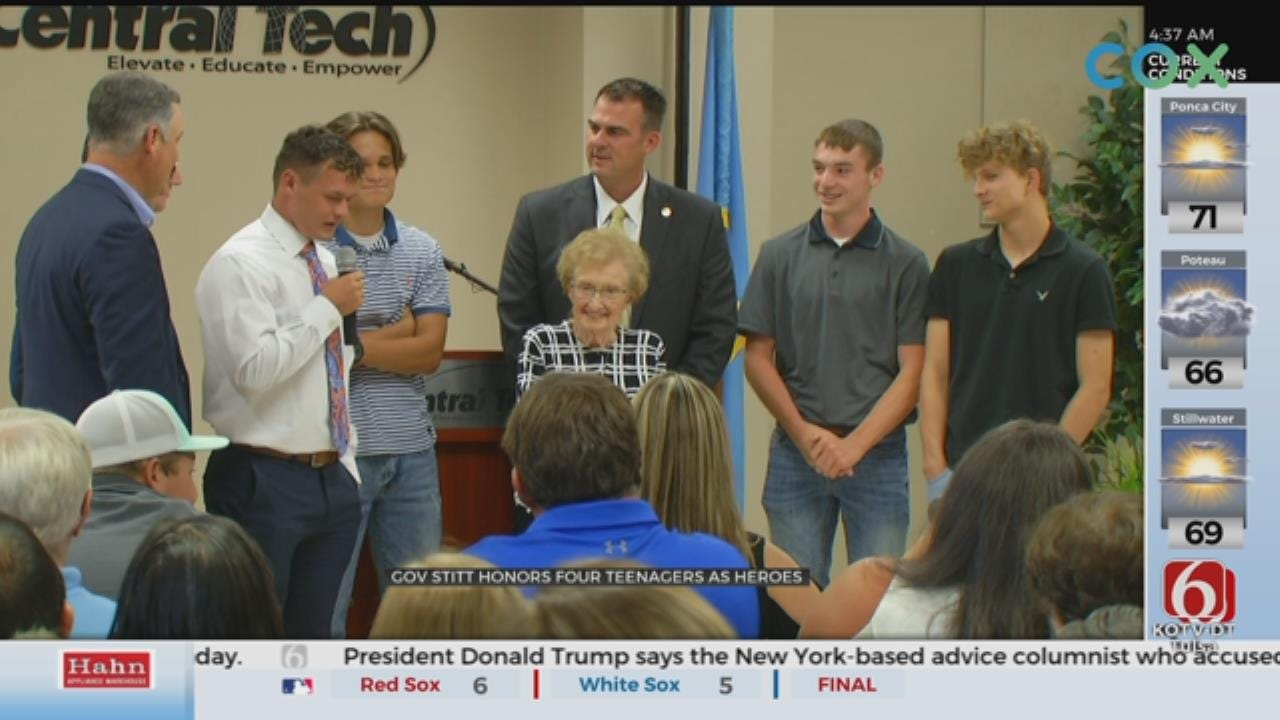 WATCH: Sapulpa Teens Honored For Heroic Actions