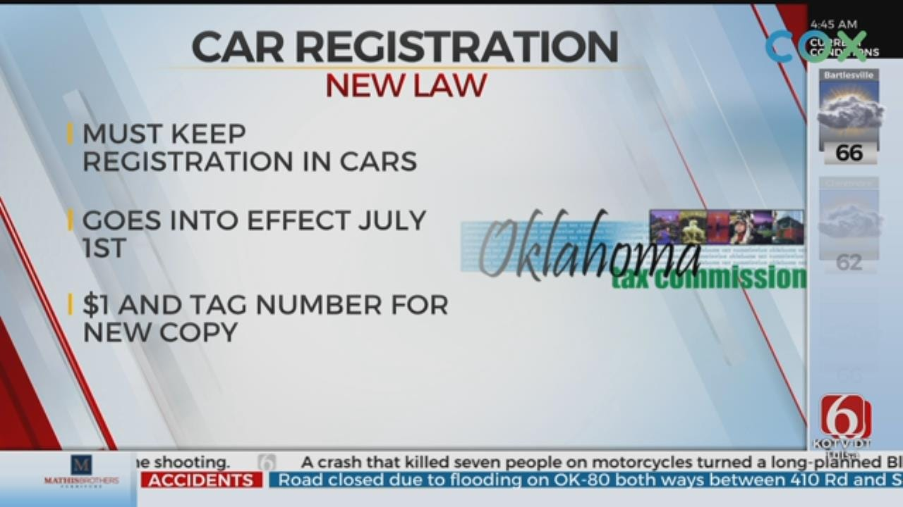 New Law Requires Drivers To Keep Registration Paper In Cars
