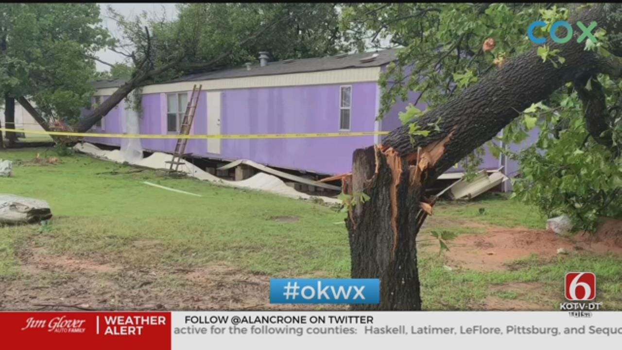 Storms, Strong Winds Cause Damage In Mannford