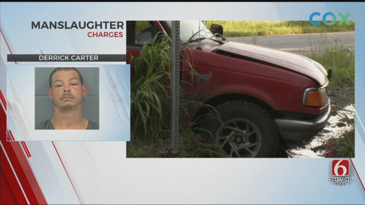 Man Charged With Manslaughter After Rogers County Crash