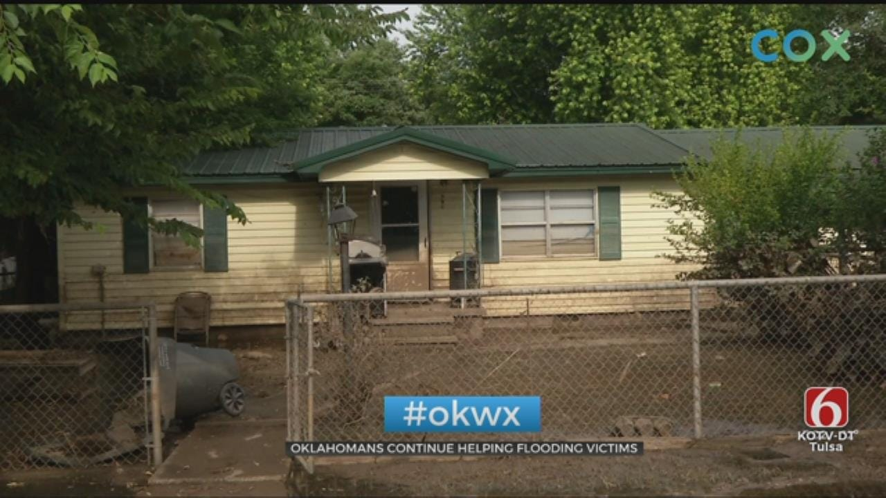 WATCH: Oklahomans Continue To Help Flood Victims