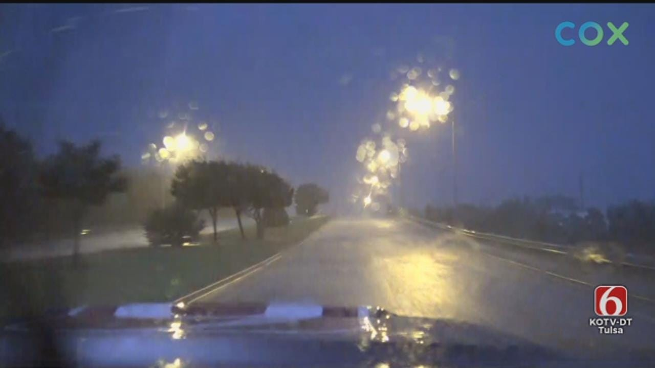WATCH: News On 6 Storm Tracker JD McManus In McAlester Area