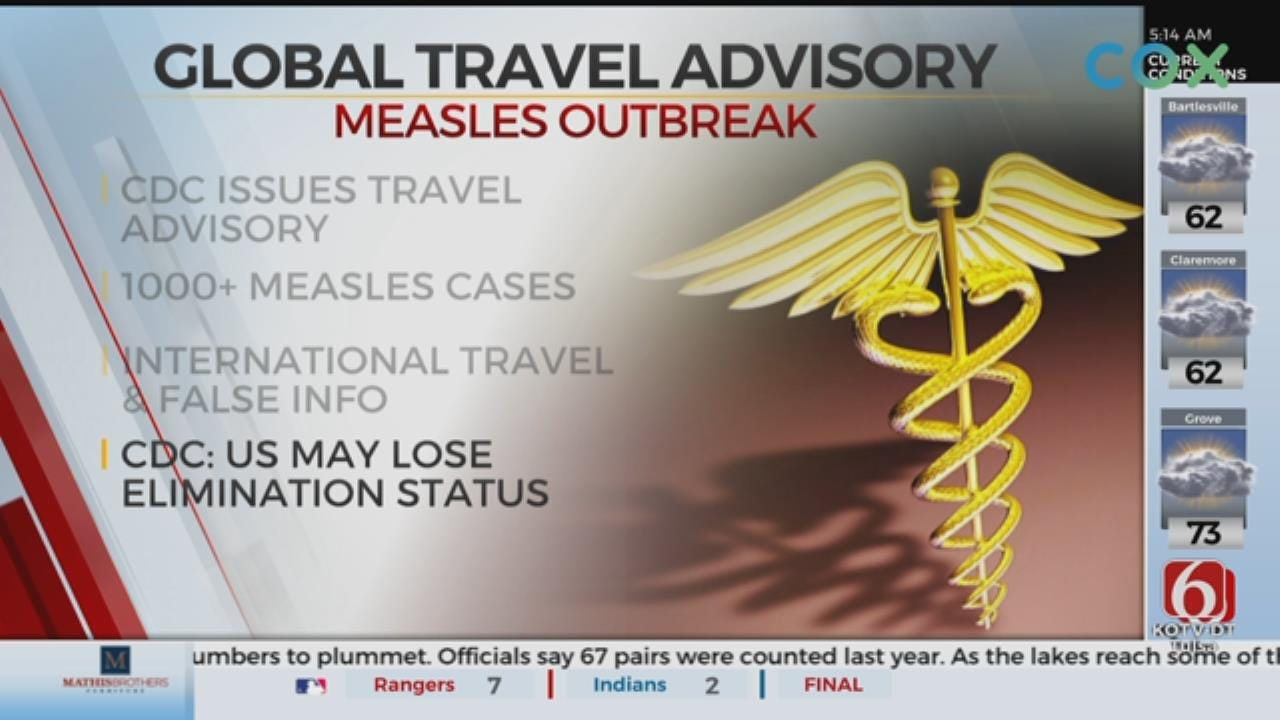 Travelers Urged To Get MMR Vaccine In Wake of 'Record-Breaking' Measles Outbreak