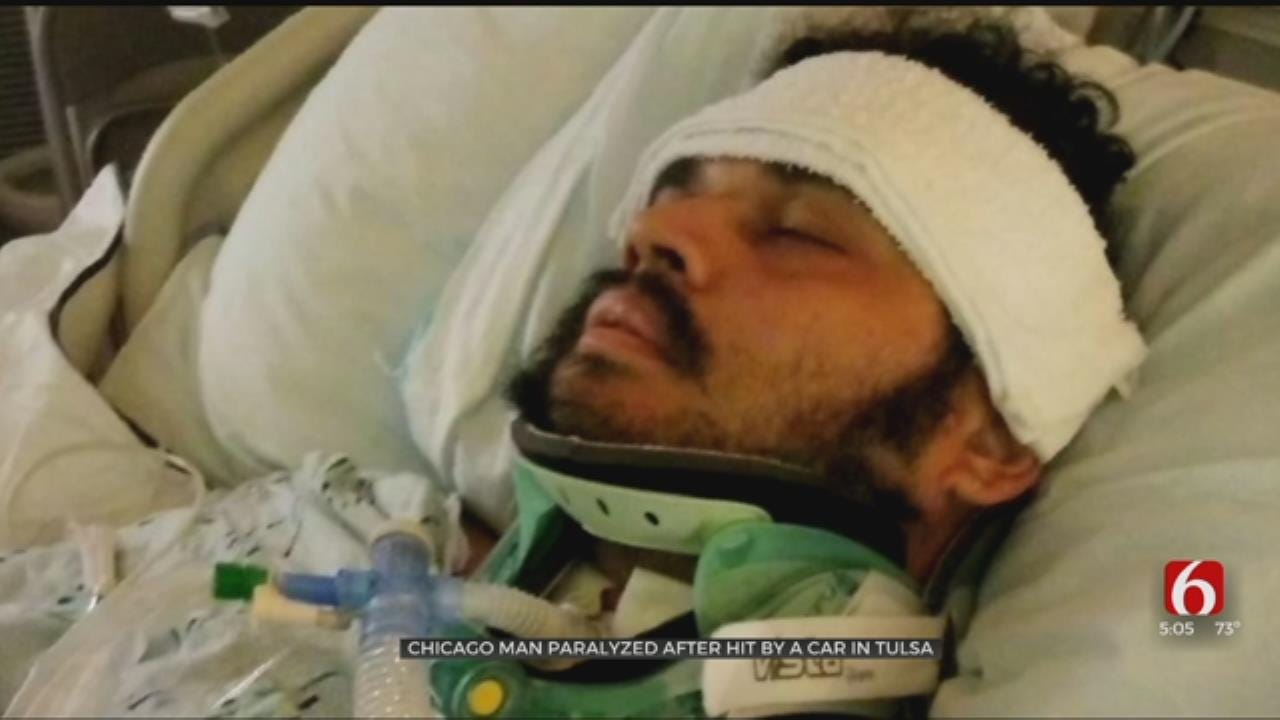 Chicago Man Paralyzed After Being Hit By Car In Tulsa
