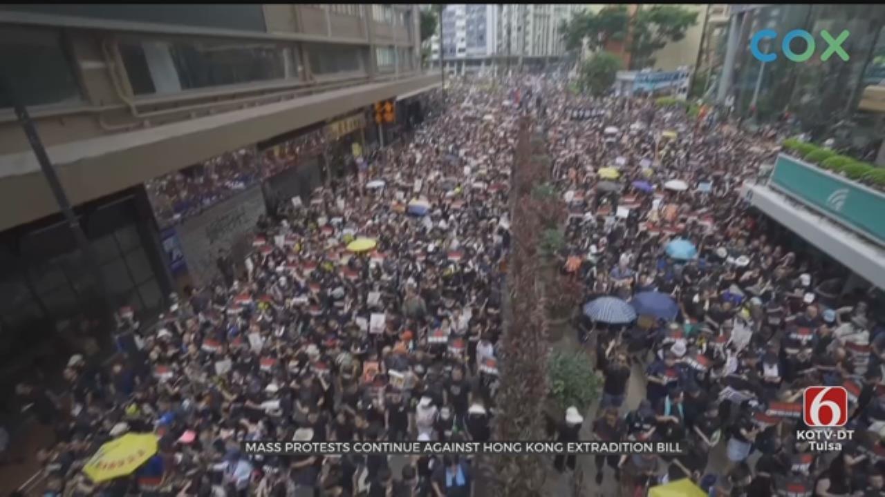 Protesters Demand Embattled Hong Kong Leader Resign