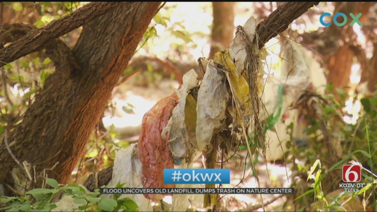 Flood Water Leaves Trash In Oxley Nature Center