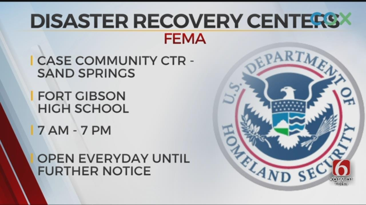 FEMA Opening Disaster Centers In Sand Springs And Fort Gibson