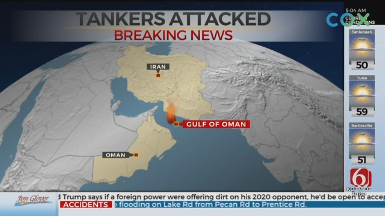 US Navy Assisting 2 Tankers Targeted In Gulf Of Oman