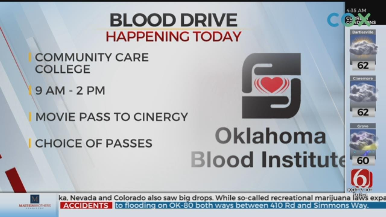 Oklahoma Blood Institute & Community Care College Hold Blood Drive