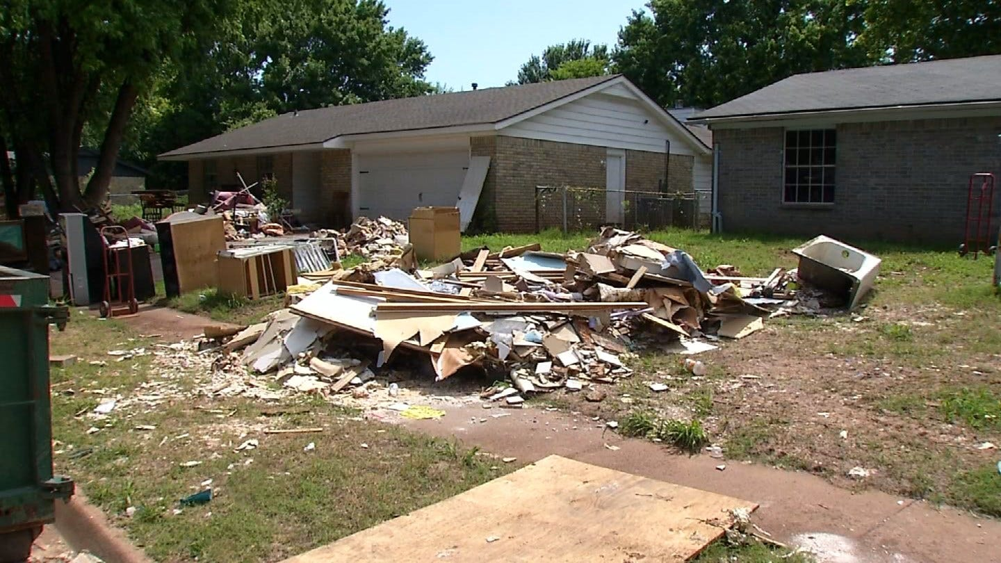 Sand Springs Residents Continue To Clean Out Homes