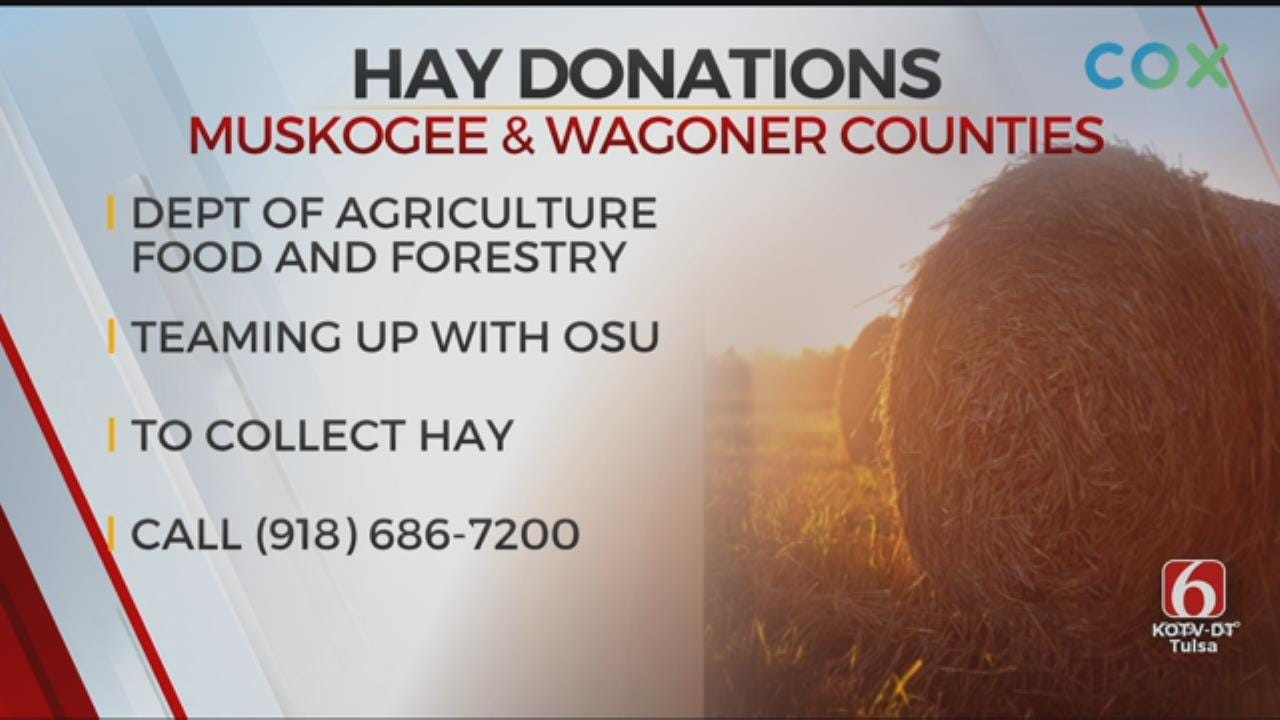 Oklahoma Dept. Of Agriculture Collect Hay Donations For Ranchers