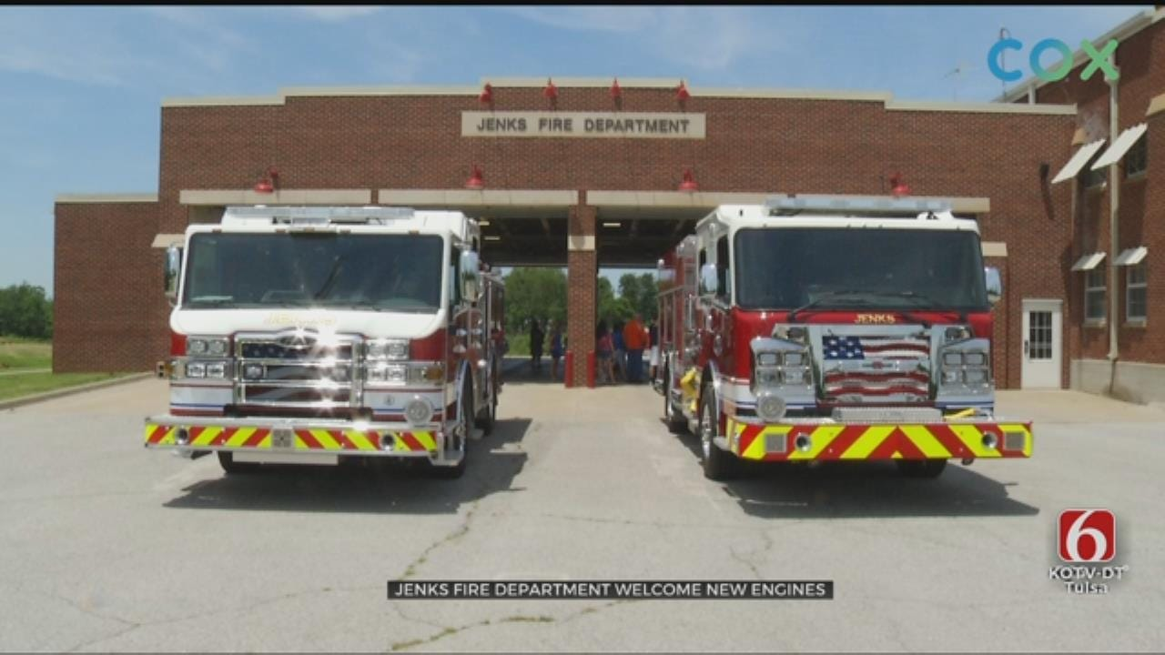 Jenks Fire Department Adds New Fire Trucks To Their Station