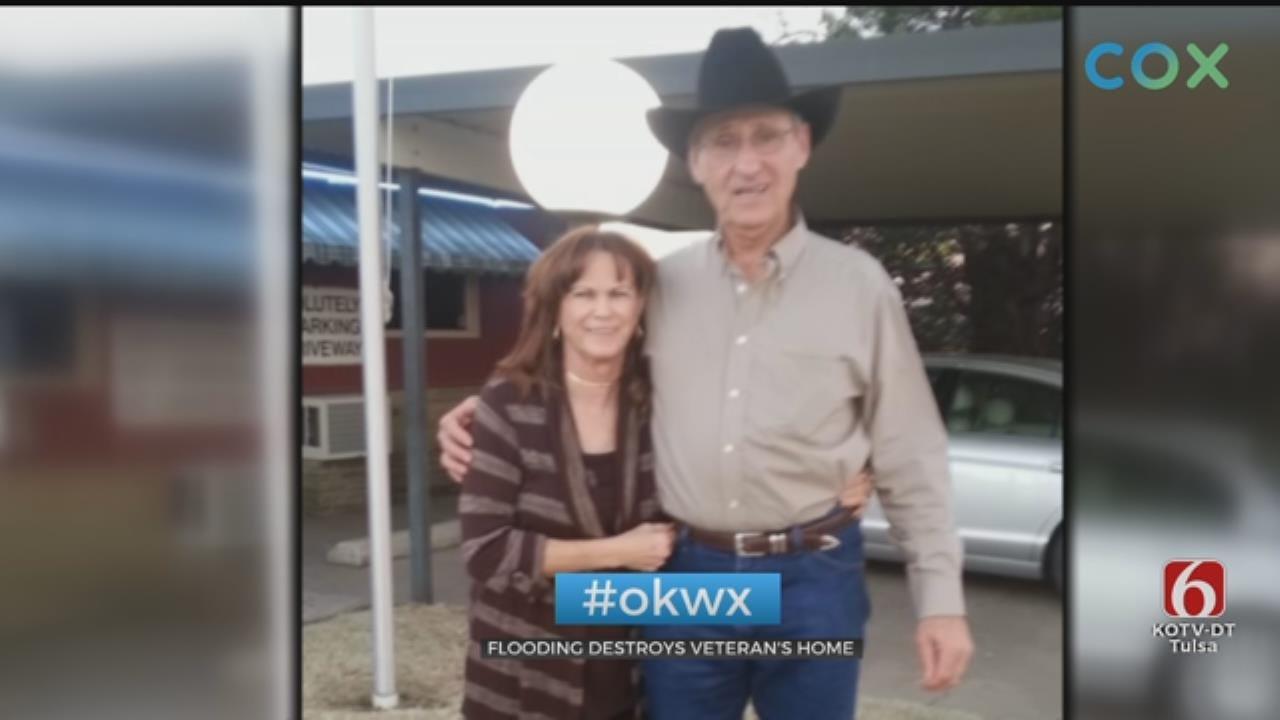 Veteran Starting Over After Flood Destroys Home In Fort Gibson