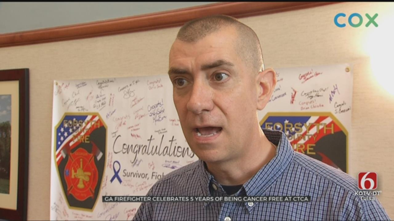 Georgia Firefighter Comes To Tulsa To Celebrate 5 Years Cancer Free
