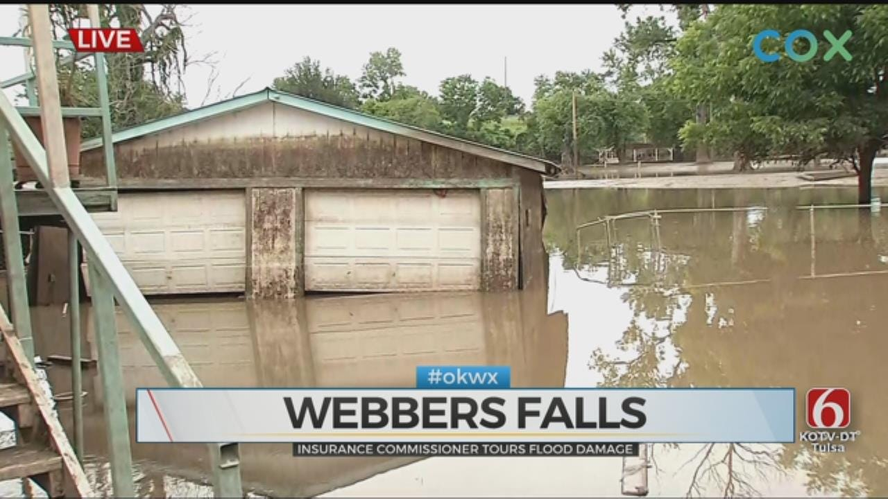 Insurance Commissioner Tours Flood Damage In Webbers Falls