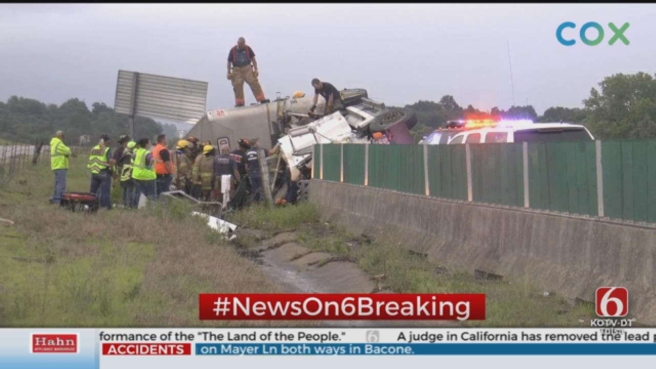 UPDATE: Semi Hauling Cattle Crashes On 412 In Pawnee County