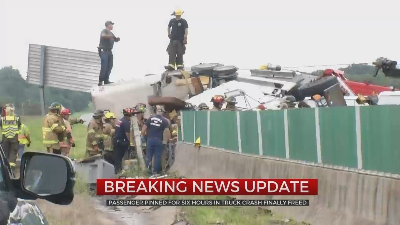 Man Freed After Being Pinned In Cattle Truck Crash Near Sand Springs For Over 5 Hours