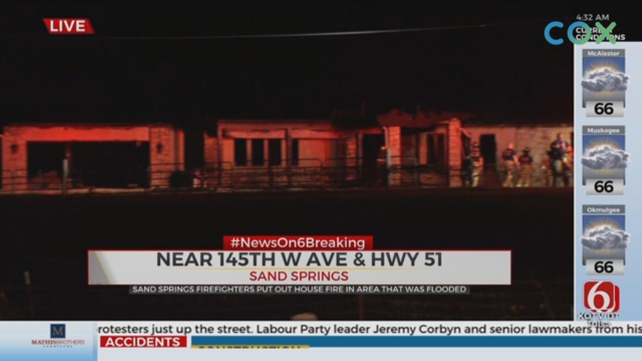 Fire Destroys Sand Springs Home