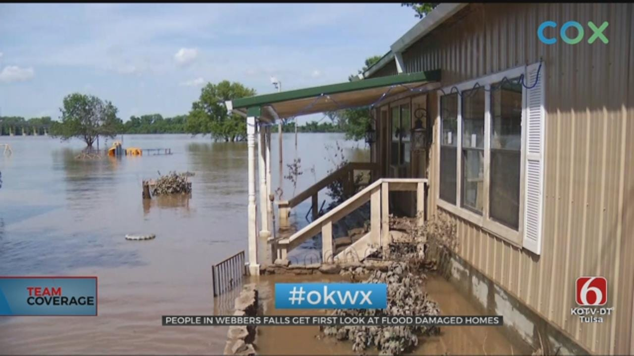 Webbers Falls Residents Get First Look At Flooding Damages