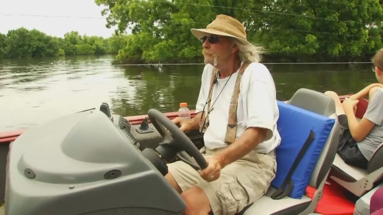 Fort Gibson Man Offering Free Boat Rides Despite Losing Everything in Flood