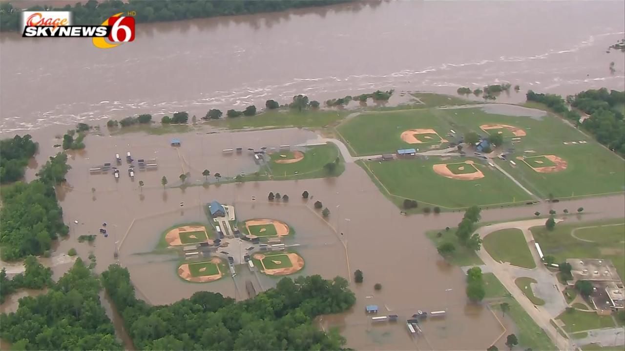 Broken Arrow Flooding: Indian Springs Sports Complex