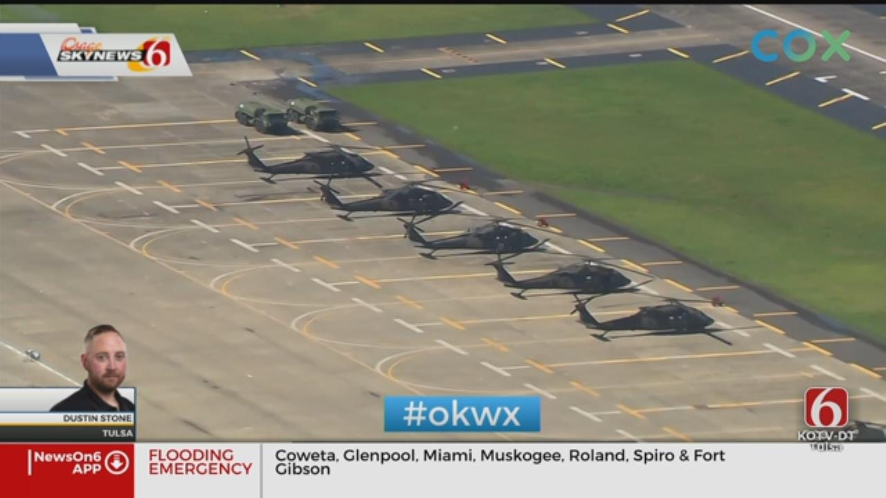 Osage SkyNews 6 HD: Chinooks Stand Waiting To Help With Oklahoma Floods