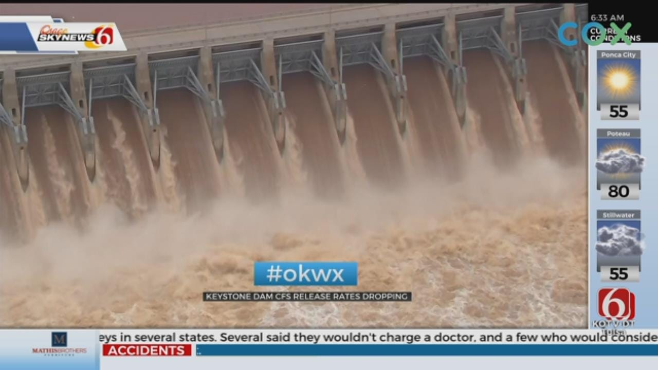 Corps Reduces Water Release From Keystone Dam
