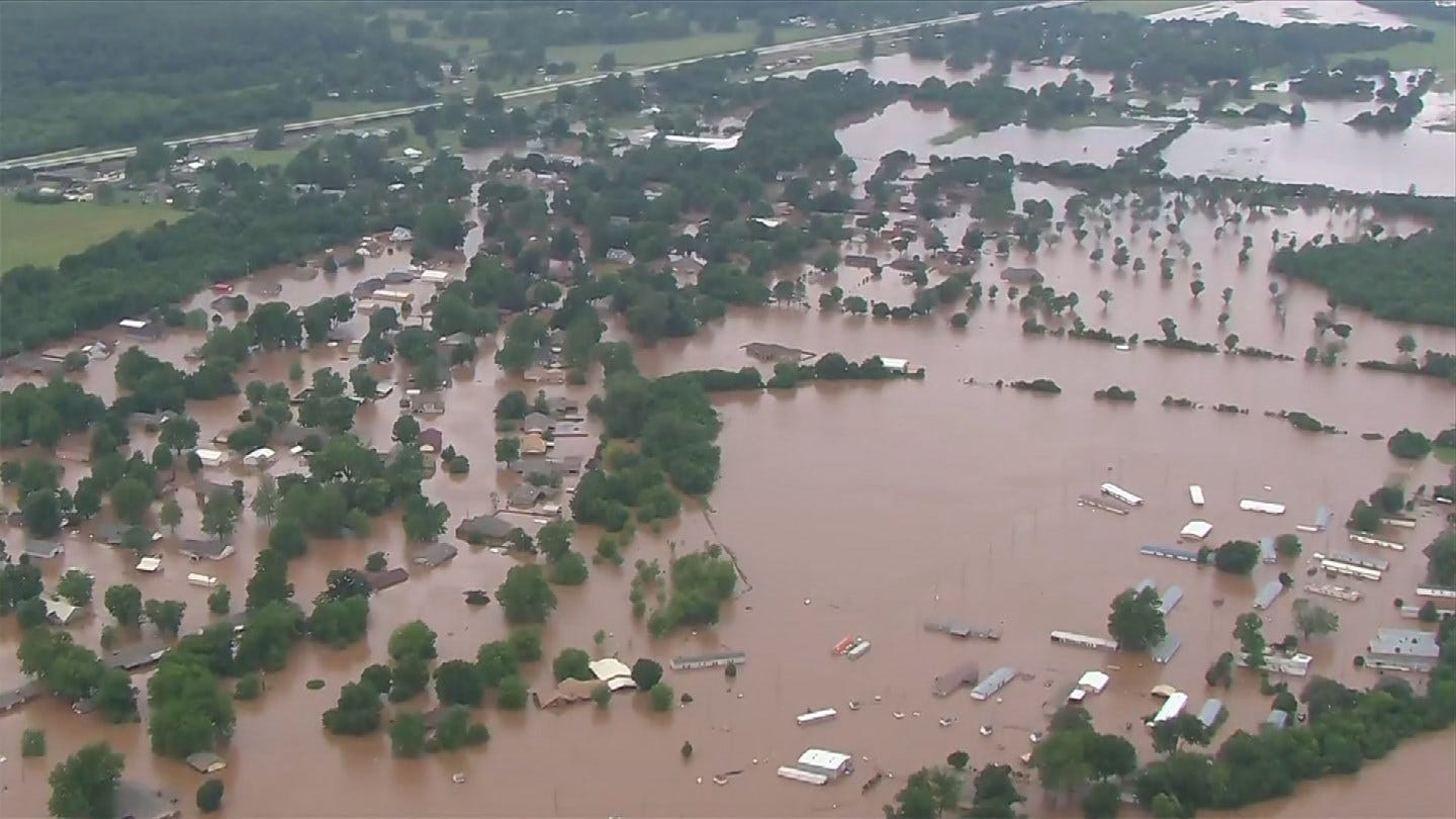 WOW: Floods Displace Hundreds In Sand Springs