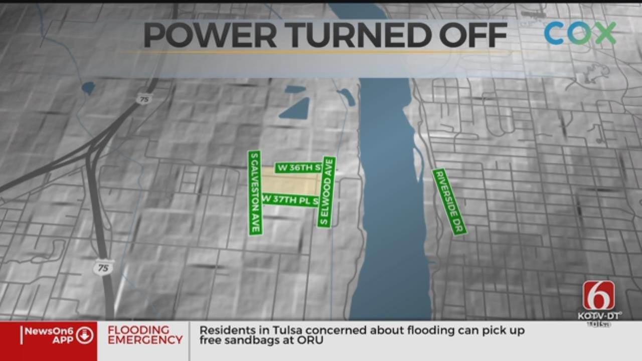 PSO Shuts Off Power From West 36th To West 37th Street In Tulsa