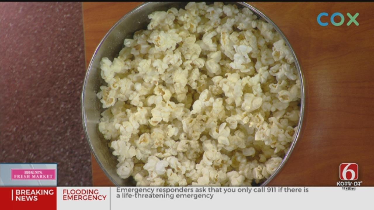 Parmesan-Thyme Popcorn And Turkey Cheddar Wrap