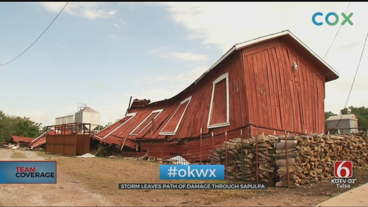 Residents Picking Up The Pieces After Storm Rips Through Sapulpa