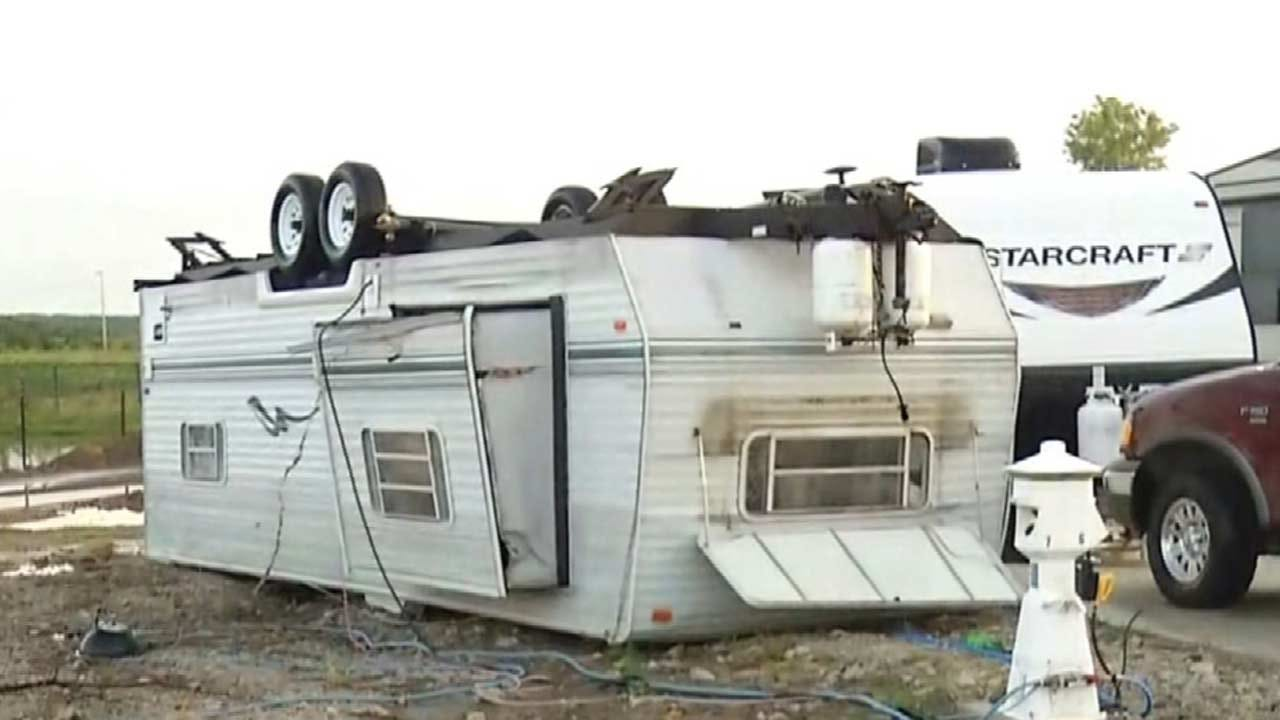 WOW: Sapulpa Residents Shaken After Storm Flips RVs